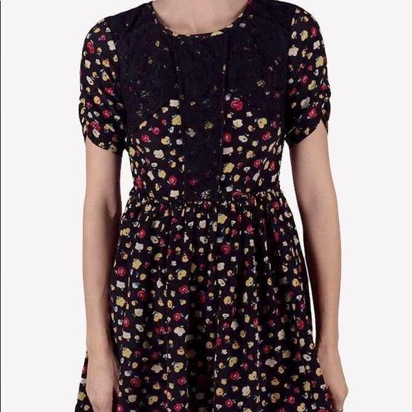ASOS Dresses & Skirts - ASOS petite black lace floral dress
